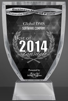 Global DMS Receives Local Business Award for 2nd Year in a Row; Makes Hall of Fame